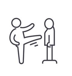 Karate martial arts kung fu tae kwon do flat vector