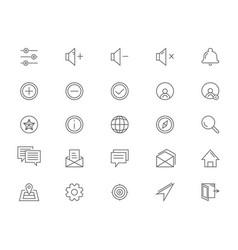 Line icons for ui vector
