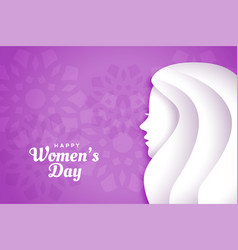 Lovely happy womens day purple background design vector