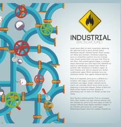 Mechanical water pipeline poster vector