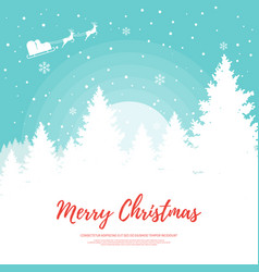 merry christmas design element template vector image