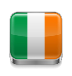Metal icon of Ireland vector image