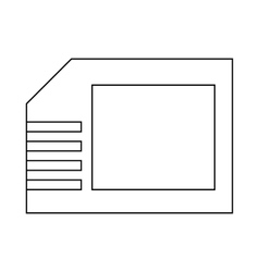 Micro sd card icon outline style vector image
