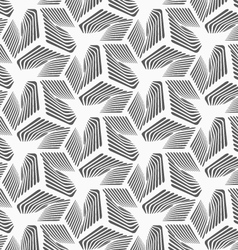 Monochrome striped three ray shapes vector image vector image