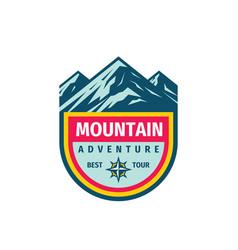 mountain adventure outdoor badge design extreme vector image