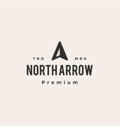 north arrow compass hipster vintage logo icon vector image