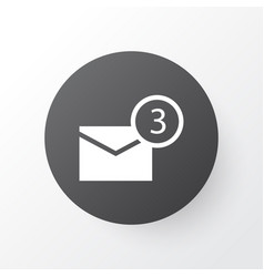 Notification icon symbol premium quality isolated vector