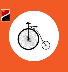 old big bicycle vector image