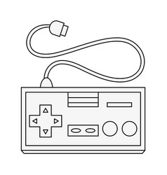 Old gamepad controller vector