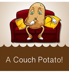 Old saying couch potato vector image