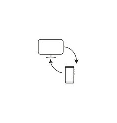 phone computer sync icon vector image