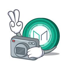 Photographer maker coin mascot cartoon vector