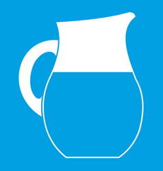 Pitcher of milk icon white vector