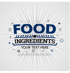 Purple logo template for food ingredients vector