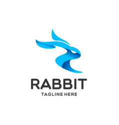 rabbit logo vector image