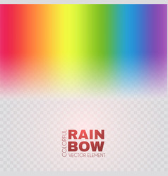 Rainbow on transparent background realistic vector