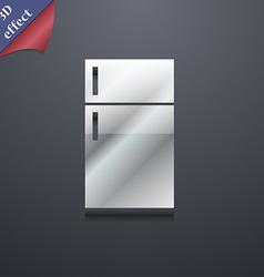 Refrigerator icon symbol 3D style Trendy modern vector image