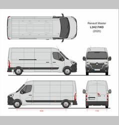Renault master cargo delivery van l3h2 fwd 2020 vector