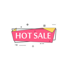retail speech bubble with hot sale phrase vector image