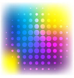 round circles on colorful background vector image