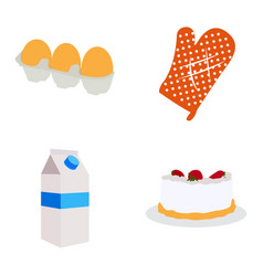 Set bakery icons vector
