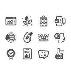 Set business icons such as world water yummy vector