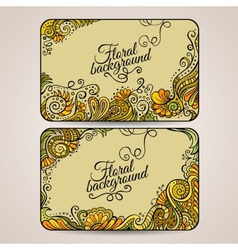 Set of two floral decorative frames vector image