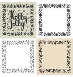 set xmas greeting frames vector image