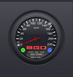Speedometer black speed gauge classic car vector