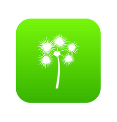 Spiny tropical palm tree icon digital green vector
