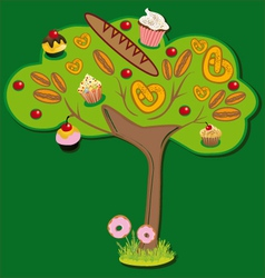 Sweet tree vector image