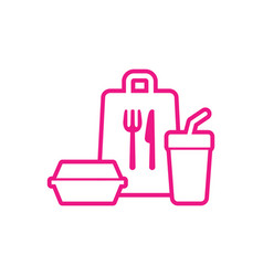 Take away food package icon fast food package vector