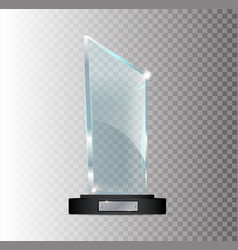 transparent realistic empty acrylic glass vector image