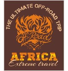 Travel Africa - extreme off-road emblem vector