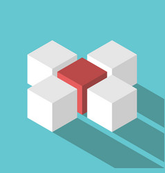 unique red leader cube vector image