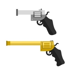 Weapons handguns vector
