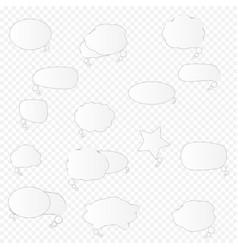 white blank retro speech bubbles set vector image
