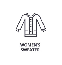 Women sweater line icon outline sign linear vector