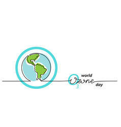 world ozone day background simple one line vector image