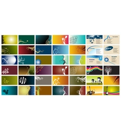 42 Business Cards vector image