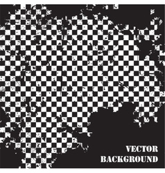 Abstract checkered grunge background pattern vector