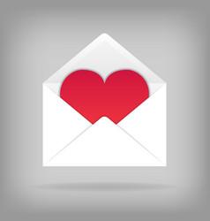 heart in the open envelope vector image