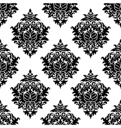 Intricate damask style arabesque pattern vector image