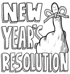 New Years resolution vector image vector image