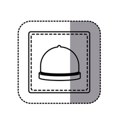 contour emblem catering icon vector image vector image