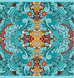 doodle ornamental pattern with swirls vector image vector image