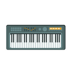 electric keyboard part of musical instruments set vector image