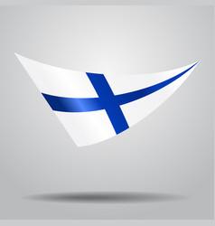 Finnish flag background vector