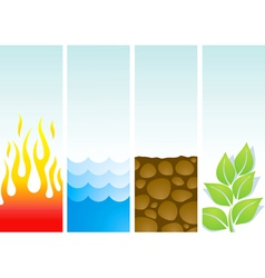 Four of the elements vector image