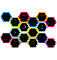 honey comb 2012 vector image